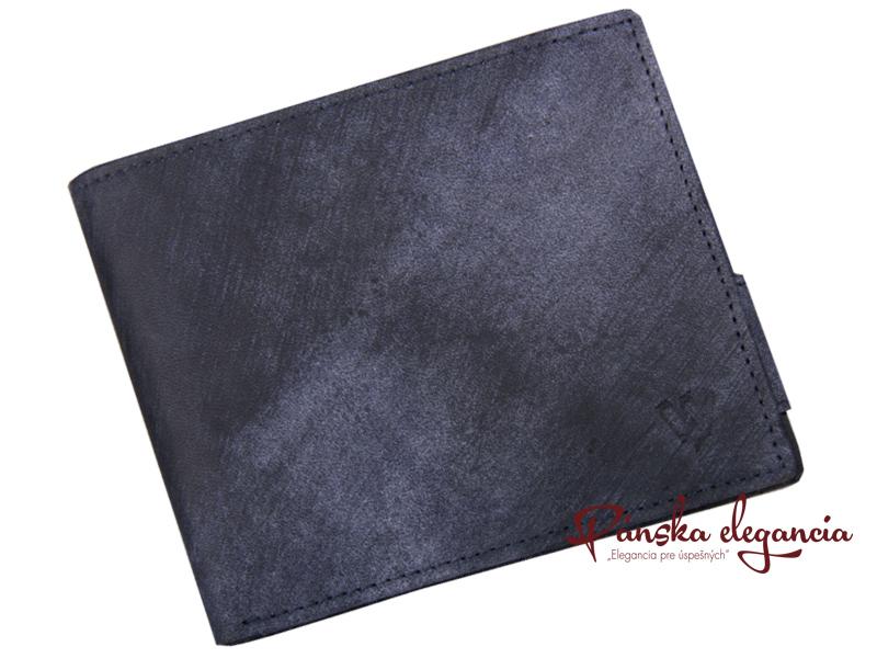 11000 Kožená pánska peňaženka z brúsenej kože 513-4241,blue
