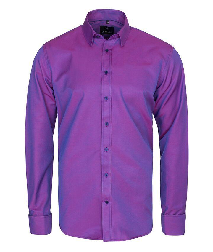 Pánska košeľa na manžetový gombík v KLASICKOM STRIHU - SalzburgPurpleluxCLASSIC