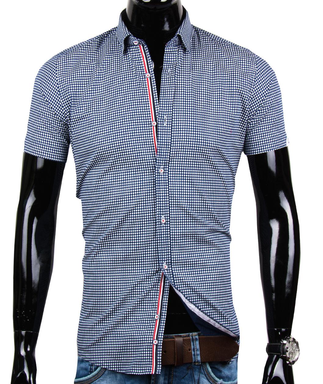 Pánska košeľa s krátkym rukávom EGO MAN - SLIM FIT