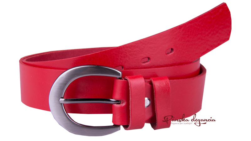 10431-79 Červený opasok z pravej kože.