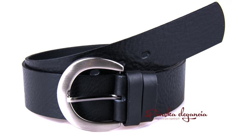 10431-89 Čierny dámsky kožený opasok.