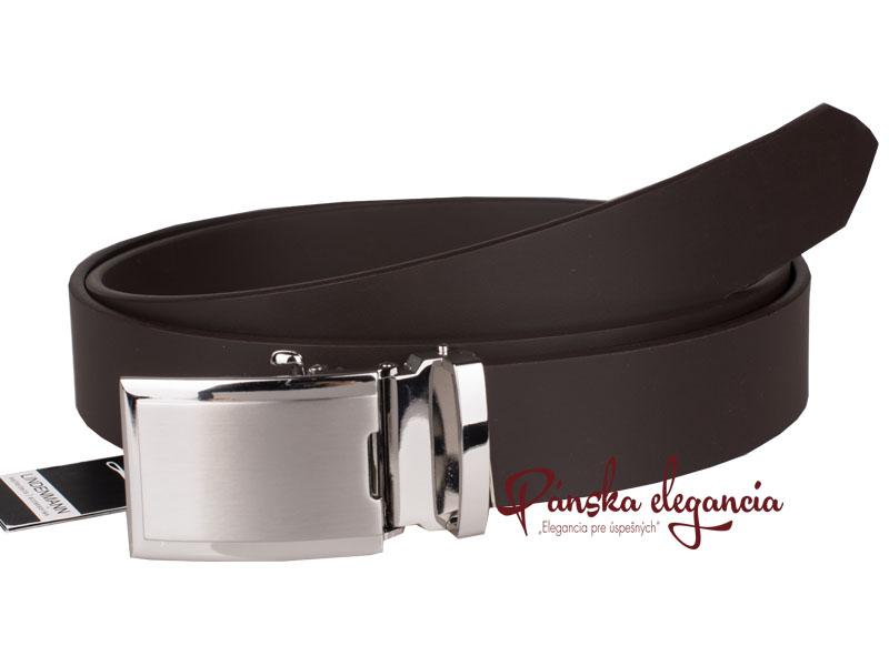 51076-2 Kožený luxusný oblekový opasok LINDENMANN 5001 - do dĺžky 140 cm