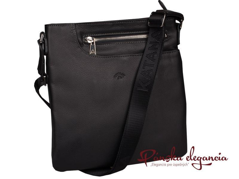 Kožená taška na rameno Katana Paris