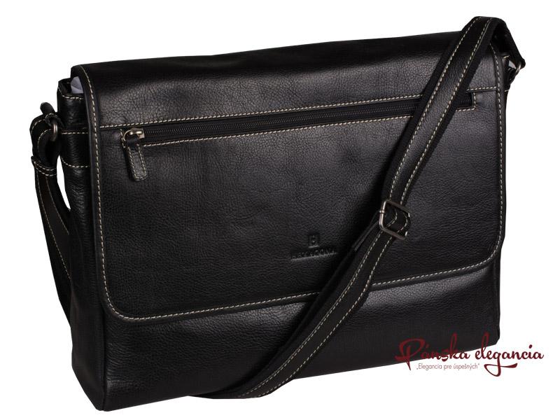Luxusná kožená taška cez plece HEXAGONA