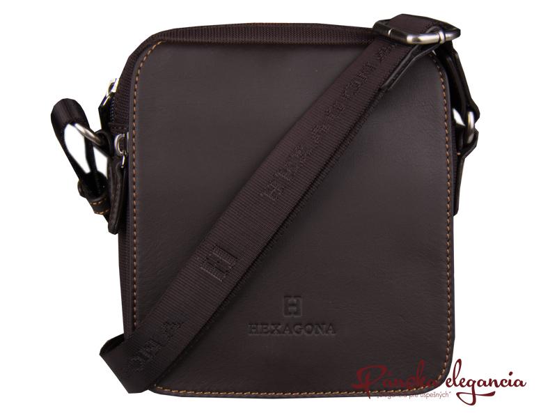 Praktická hnedá taška cez rameno HEXAGONA PARIS 299176