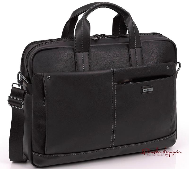 """Čierna taška na 15,6"""" notebook a 12,9"""" tablet."""