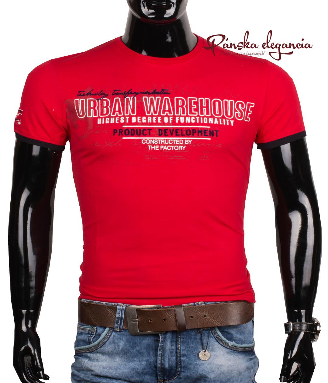 10972-1 Štýlové pánske tričko s krátkym rukávom ANTRACID 2117