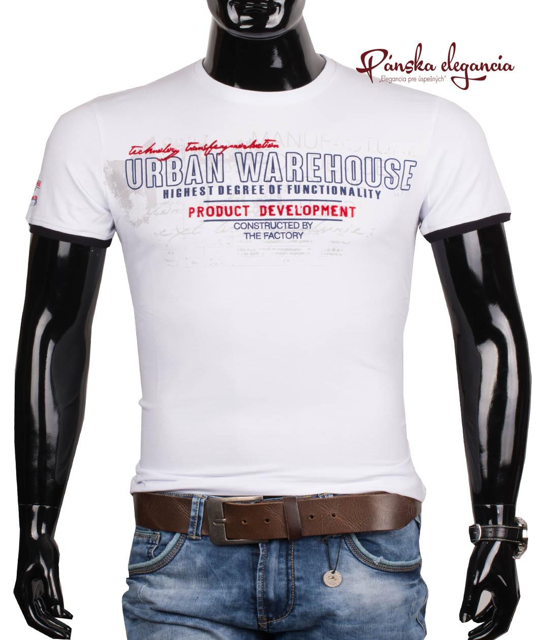 10972-3 Bavlnené pánske tričko s krátkym rukávom ANTRACID 2117
