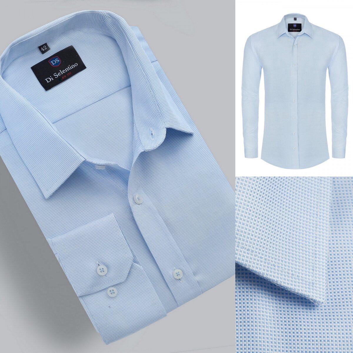e6a6122948ca Luxusná modrá pánska košeľa v klasickom strihu OlivierCLASSIC