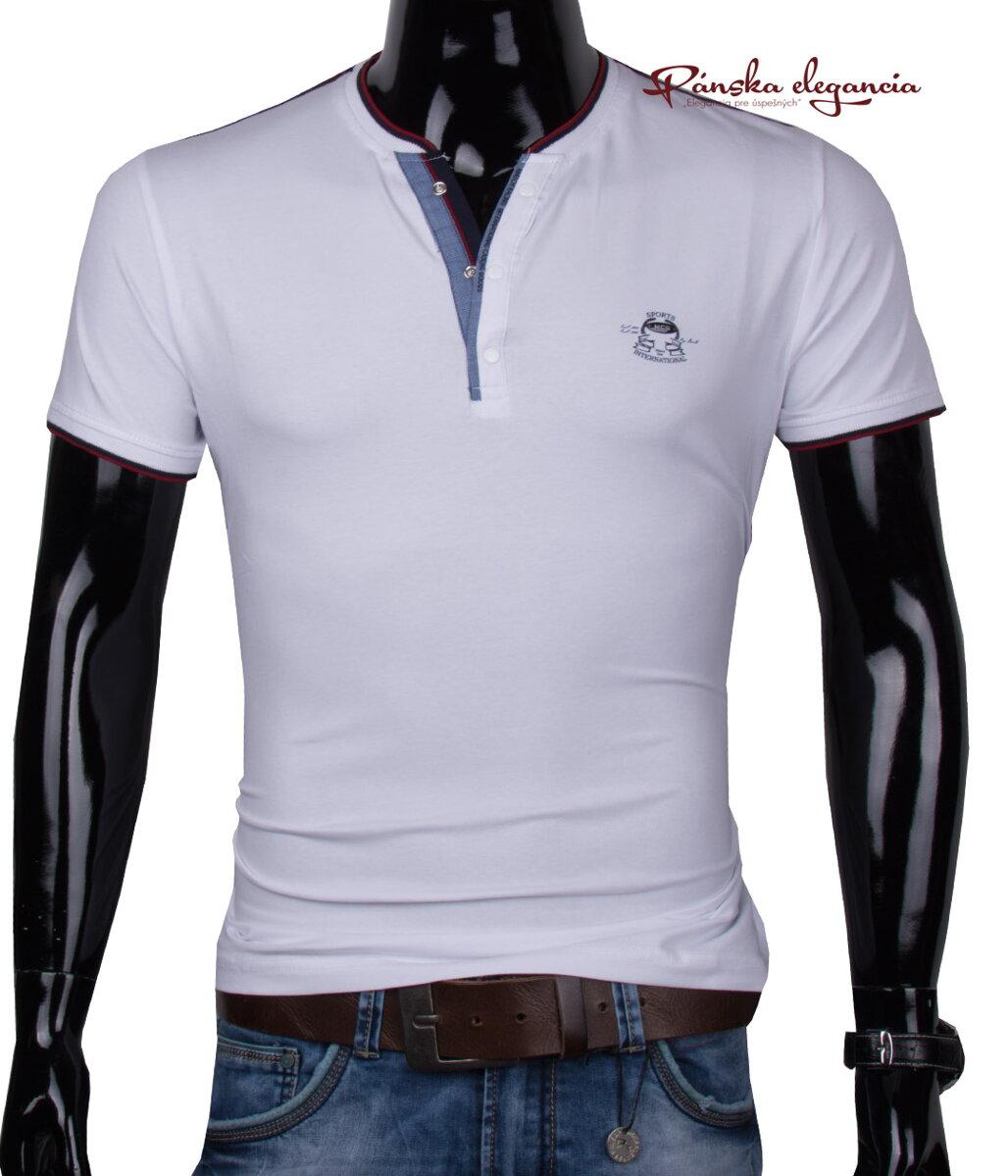 11443-38 Biele polo tričko MARCO Y-52 5a2d1749bc