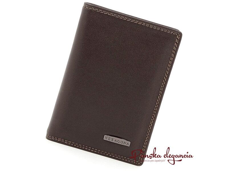 11467-2 Kožená pánska peňaženka HEXAGONA PARIS 727555 marrone fonce da50fe1dd80