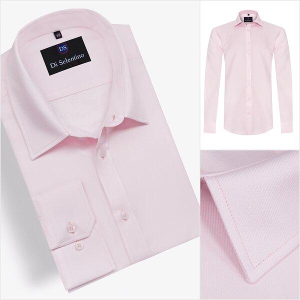 c8c4cb1a8e6e Ružová pánska košeľa v SLIM FIT strihu BRUGESSLIM