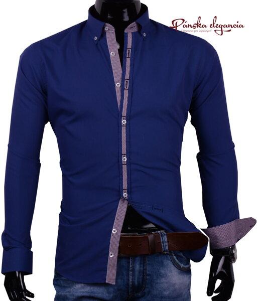 0f08896f178a 30016-EM-315 Modrá pánska košeľa.
