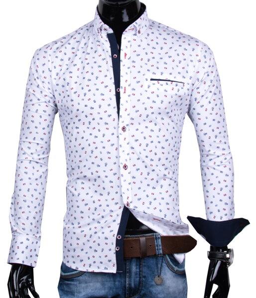 5ade88868410 30016-EM-328 Pánska košeľa s trendy vzorom EGO MAN - SLIM FIT