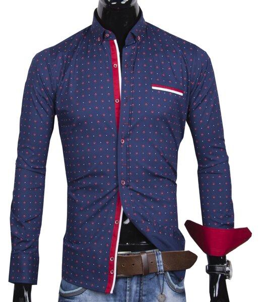 e0567275a88e 30016-EM-368 Trendová pánska košeľa EGO MAN - SLIM FIT