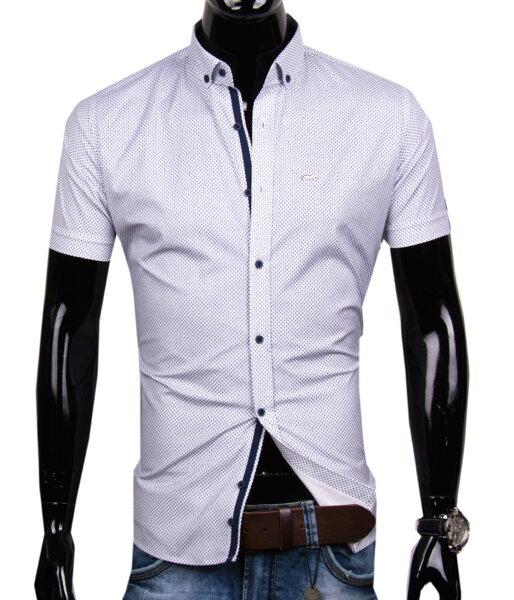 ac7e7b5085d3 Štýlová pánska košeľa s krátkym rukávom EGO MAN - SLIM FIT