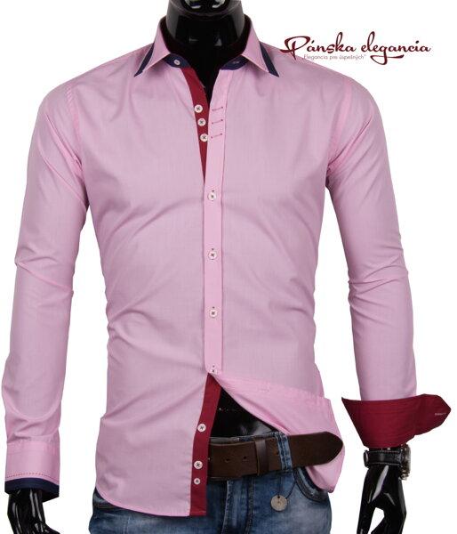 b60b529d0671 11072-PL-3 Ružová košeľa pre pánov PAKO LORENTE