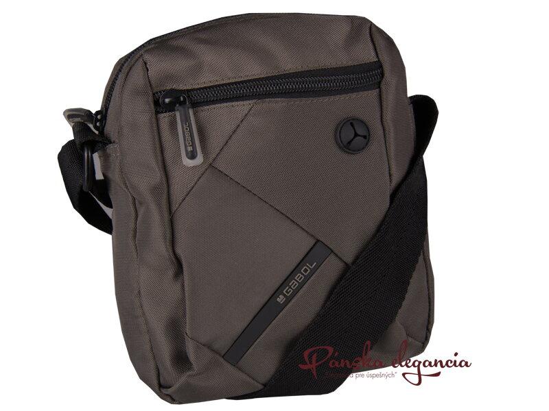 4ad4763d92 11202-2 Taška na rameno z nylonovej textílie GABOL 515201 šedá