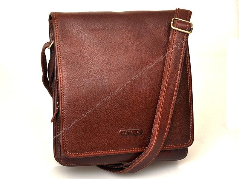 10a2031c3e Luxusná kožená taška na rameno KATANA PARIS - limitovaná edícia 36104-03  marrone.