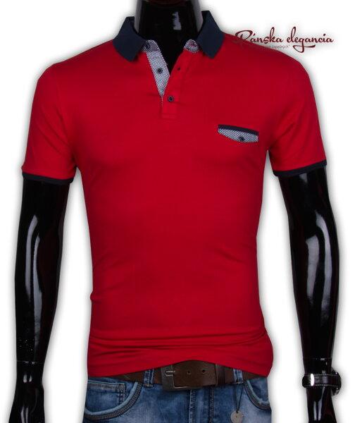 4190c787c9fc 11052-9 Červené pánske polo tričko EXPOMAN