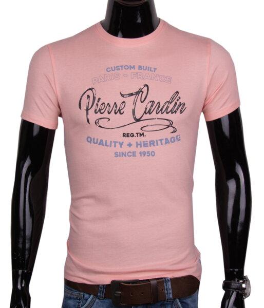 c69191c1a15b 11444-95 Ružové pánske tričko PIERRE CARDIN