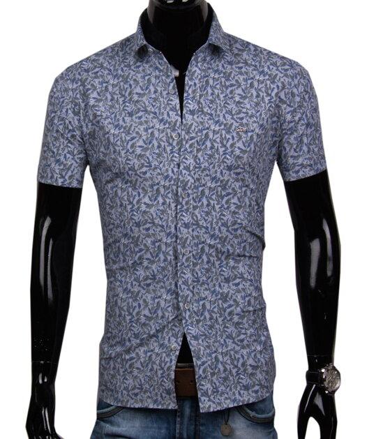 3f679c823 Pánska košeľa s krátkym rukávom EGO MAN - SLIM FIT