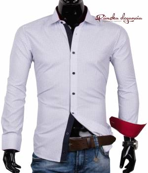 de4004d07380 40030-AD-188 Bavlnená košeľa s celoplošným vzorom ADRIANO CALITRI - SLIM FIT