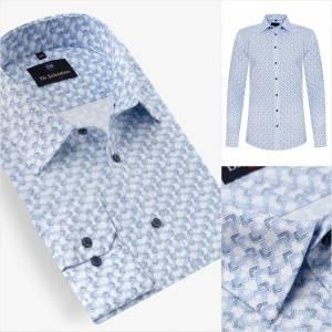 2d1452193c17 Pánska košeľa s moderným vzorom v SLIM FIT strihu BergenSLIM