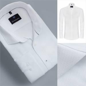 1c9ba479bf77 Luxusná biela pánska košeľa v klasickom strihu CharlesCLASSIC