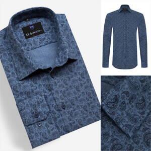 80050ff9ad04 Pánska košeľa s moderným vzorom v SLIM FIT strihu DRESDENSLIM