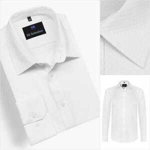 53e0f513010d Biela košeľa s jemnou štruktúrou v SLIM FIT strihu MUNICHSLIM