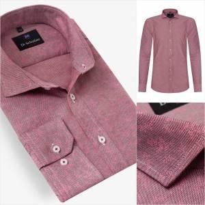 eb265e6f1496 Ružová pánska košeľa s kvetinovým vzorom NaplesSLIM