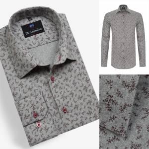 22aa9c131307 Trendová košeľa so vzorom v SLIM FIT strihu YORKSHIRE