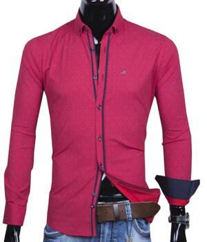89e3d2a4a 30016-EM-358 Trendová pánska košeľa EGO MAN - SLIM FIT