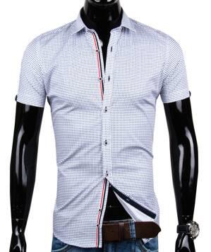 6907085c877e Trendy košeľa s krátkym rukávom EGO MAN - SLIM FIT
