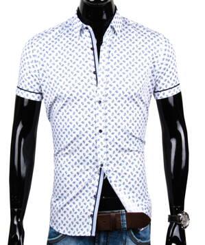 566113ec8ede Pánska košeľa s krátkym rukávom EGO MAN - SLIM FIT