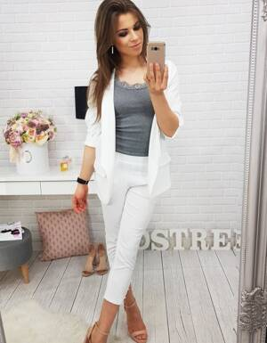 Spodnie SIMPLE WHITE (uy0114)