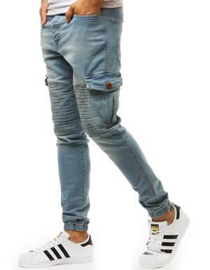 06a444bf6ff9 Modré džínsové jogger nohavice (ux1931)