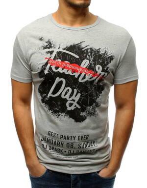 Trendové pánske tričko sivej farby (rx3214) 84b10e46a32