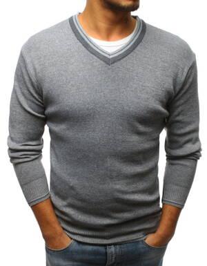 c7119398ce96 Pekný šedý pánsky sveter (wx1129)
