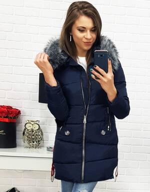 Štýlová zimná granátová bunda s kapucňou (ty0501) c5779c69778