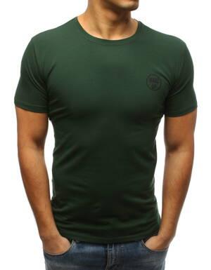 6cce1b836378 Zelené pánske tričko v klasickom prevedení (rx3355)