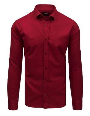 60139fdc9e23 Výrazná bordová košeľa v elegantnom prevedení (dx1732)