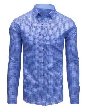 b32f85d65cdb Modrá bavlnená pánska košeľa (dx1700)