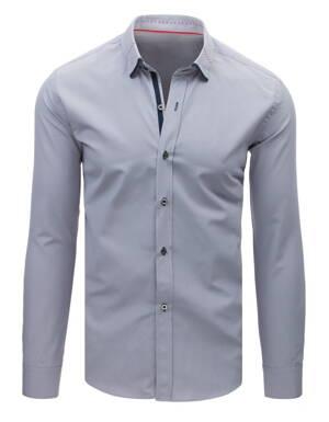 Šedá pánska košeľa EGO MAN (dx1626) 2fadbcbcf38