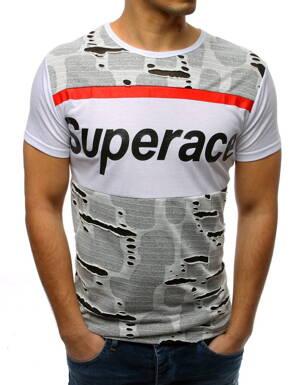 426bbbcbbe62 Pánske tričko s potlačou bielej farby (rx3364)