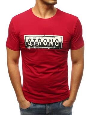 0d8d24371a05 Pánske tričko červenej farby (rx3288)