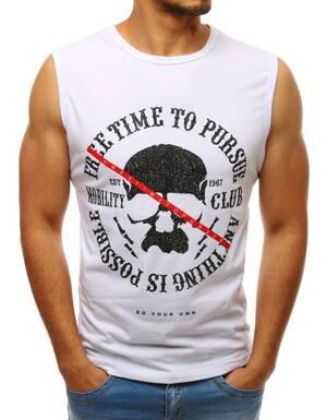 56f84e7b688d Biele pánske tričko s potlačou (rx3399)