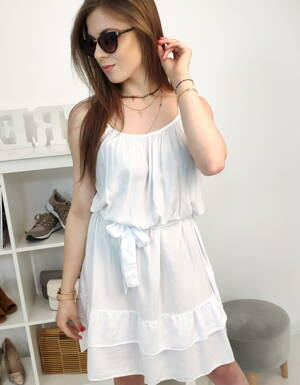 0a4fd7c0f1 Biele dámske šaty na leto (ey0907)