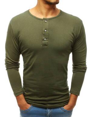 adb9908ba51a Zelené pánske tričko s dlhým rukávom (lx0491)